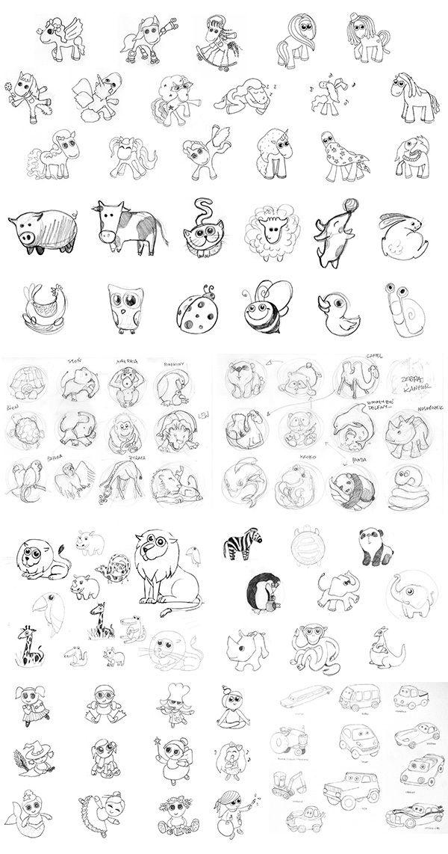 Memollow - character sketches