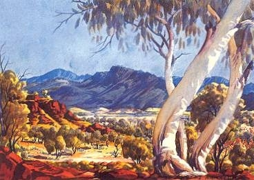 Albert Namatjira painting