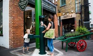 One of the new drinking fountains installed in Borough Market, London.