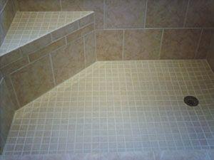 corner shower bench