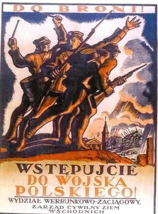 """To fight! Up into the Polish Army!"" - Polish propaganda poster."