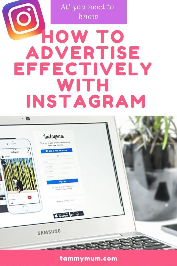 Instagram Social Media Training How To Advertise With Instagram Tammymum Instagram Advertising Social Media Training Social Media