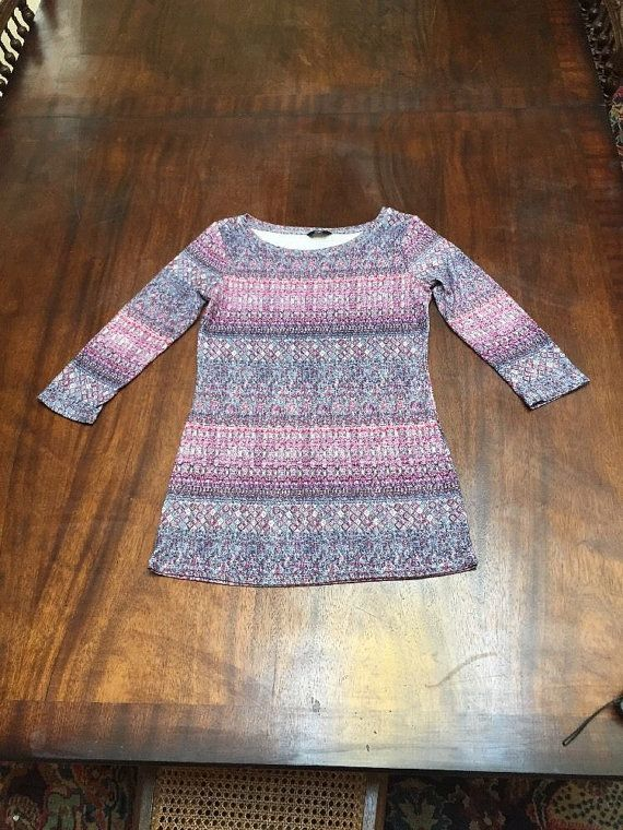 Florence And Fred Longline Jersey Ladies Tunic Top, Size 10