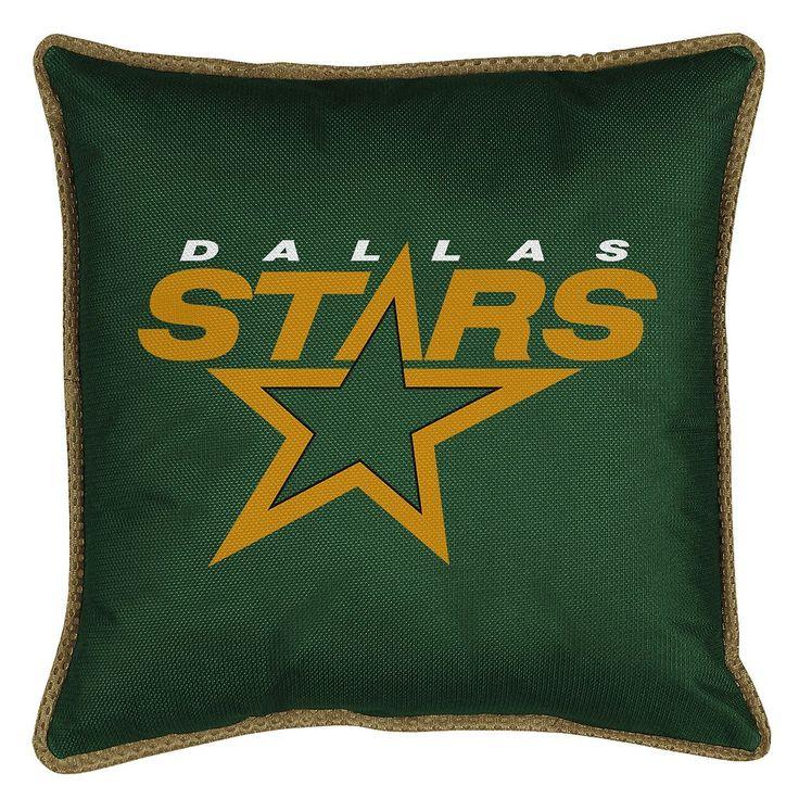 Dallas Stars Decorative Pillow, Green
