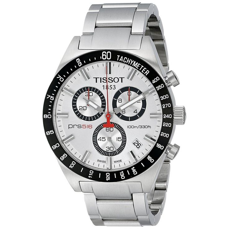 Tissot Men's T0444172103100 T-Sport PRS 516 Chronograph Stainless Steel Watch