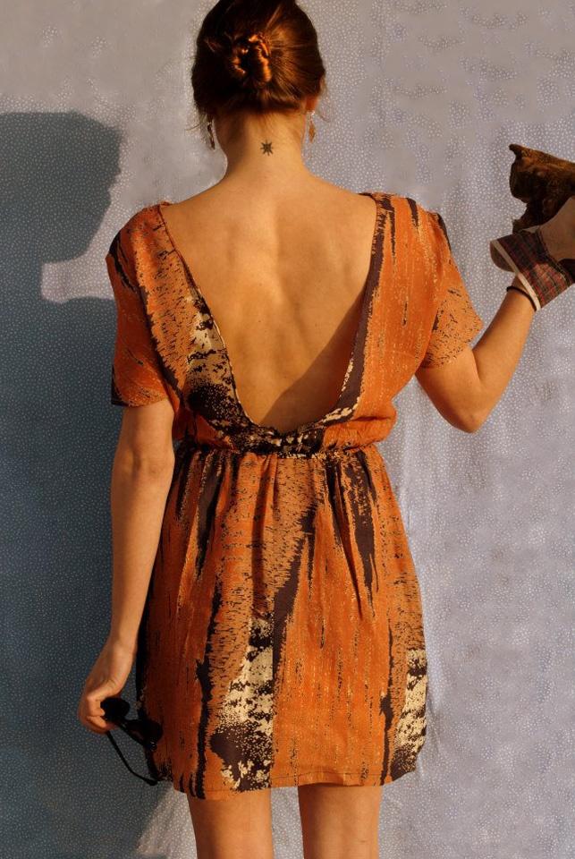 wide open back dress_ lag unused design