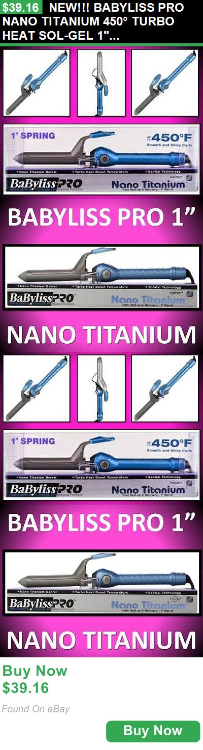 Straightening and Curling Irons 177659: New!!! Babyliss Pro Nano Titanium 450° Turbo Heat Sol-Gel 1 Spring Curling Iron BUY IT NOW ONLY: $39.16