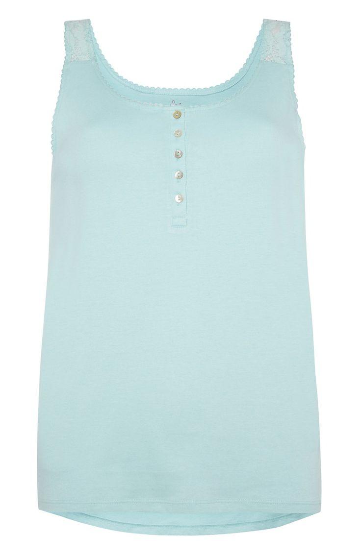 Primark - Turquoise Button PJ Vest - £3.50