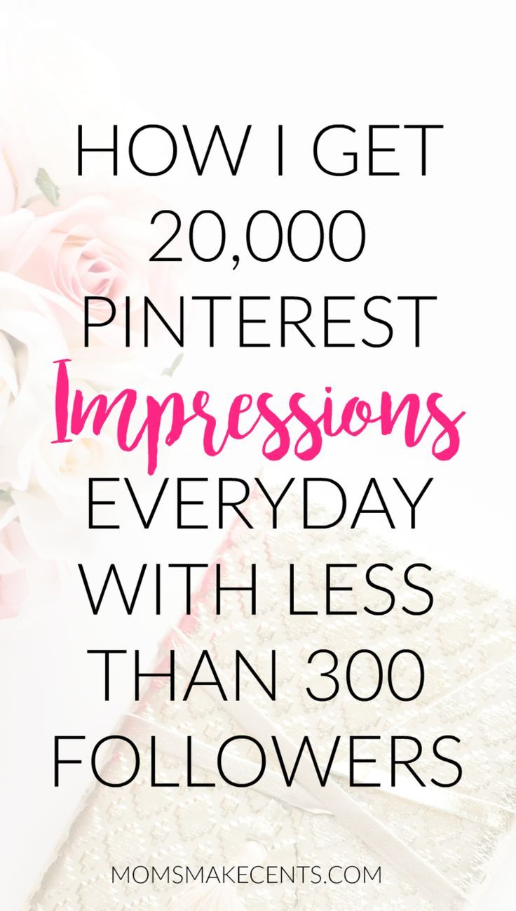 How to Make a Big Impression With a Tiny Pinterest Following. My step by step guide to getting 20,000 pinterest impressions everyday with less than 300 followers. Click through for my tips and a printable guide.