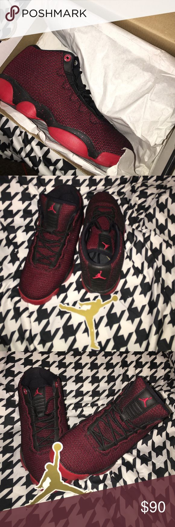 Black/Gym Red-White Jordan Horizon Low BG Jordan Horizon LOW BG Jordan Shoes Sneakers