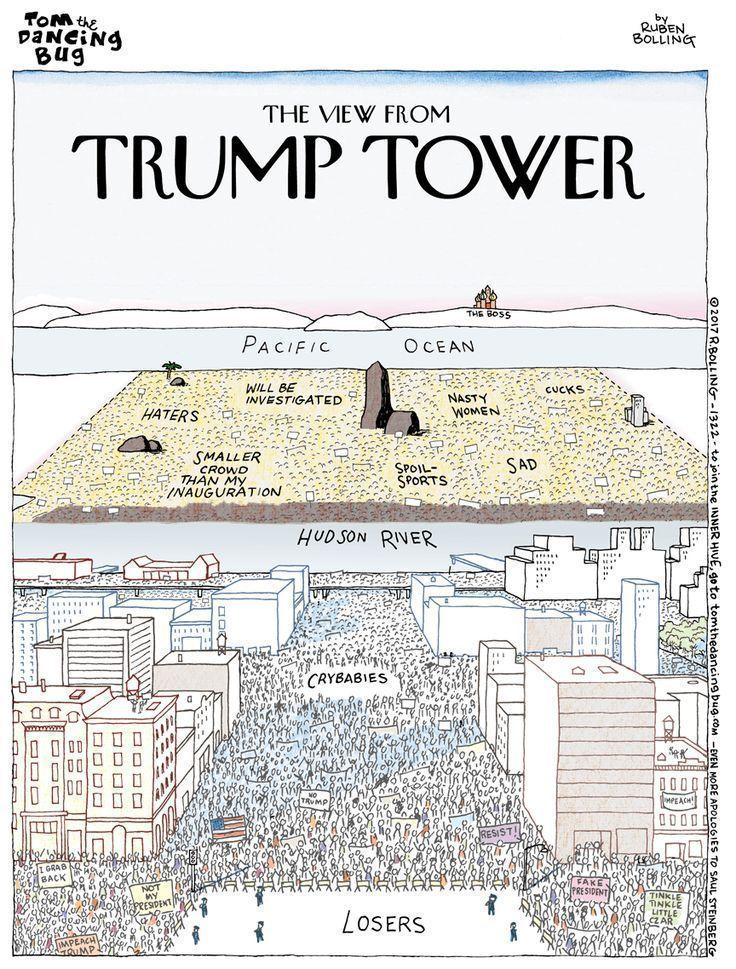 Cartoon: The new view from Trump Tower