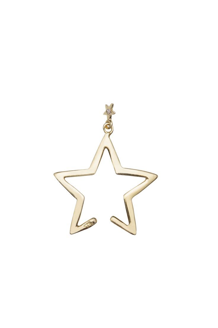 Diamond Falling Star Cuff Gold