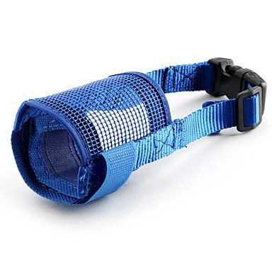 BuW Pet Muzzle for Dogs ( Blue) online pet store funny dog clothes do dogs need clothes - http://www.thepuppy.org/buw-pet-muzzle-for-dogs-blue-online-pet-store-funny-dog-clothes-do-dogs-need-clothes/