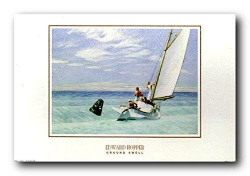Jazz up your decor and create a mesmerizing aura in around your living space with this wonderful ground swell Edward Hopper sailing boat fine picture art print poster. This wonderful wall art will look great hang in your living room, a spare bedroom or even in your entryway spaces. Hurry up and order this poster which ensures durable quality with perfect color accuracy.