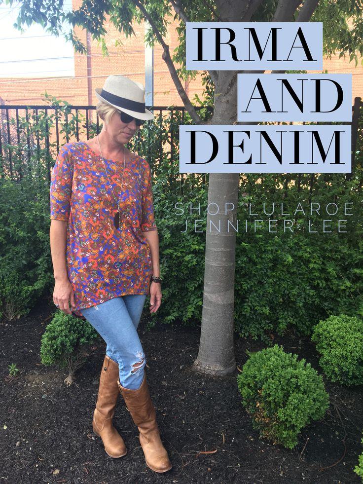 Bright colors & ripped jeans  SHOP LULAROE JENNIFER LEE  https://m.facebook.com/groups/277118652685180