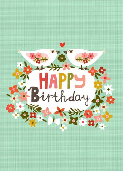 CARDS :: Birthday Cards :: NEW! Happy Birthday Partridges - Ecojot - eco savvy paper products