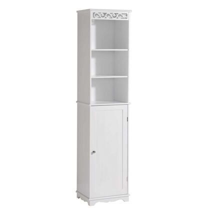Scroll Tall Cupboard White £124.99