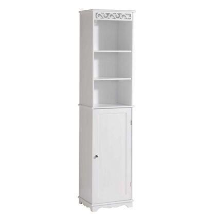Scroll Tall Cupboard White £124.99