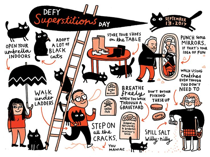 The Nib's Calendar of Obscure Holidays 2018 - Defy Superstition Day - ALL the black cats!