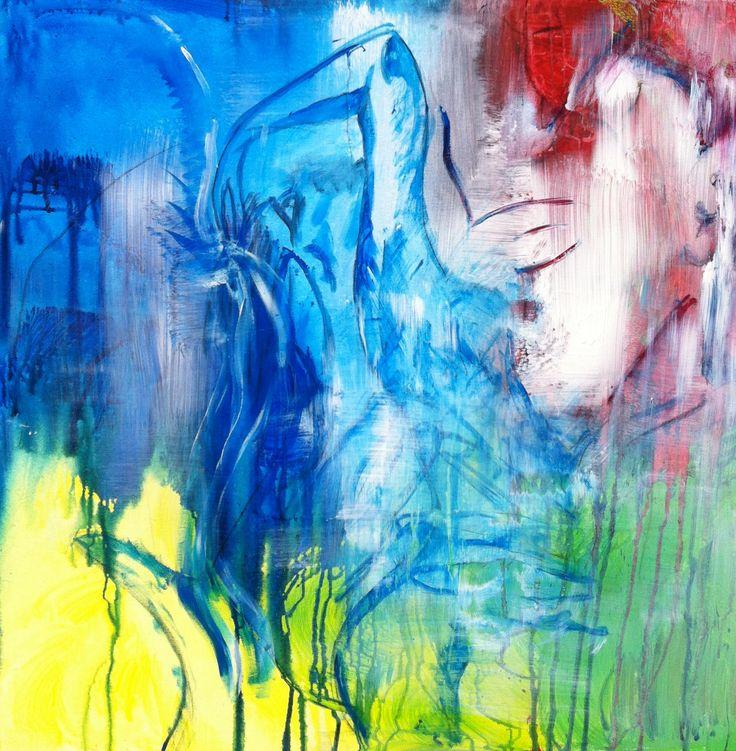 abstract/figuratief op canvas 100 bij 100 bij 2.  € 995