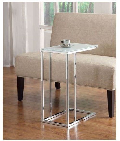 Coaster (900250) Contemporary Snack Table with Glass Top - Chrome #Coaster #Contemporary