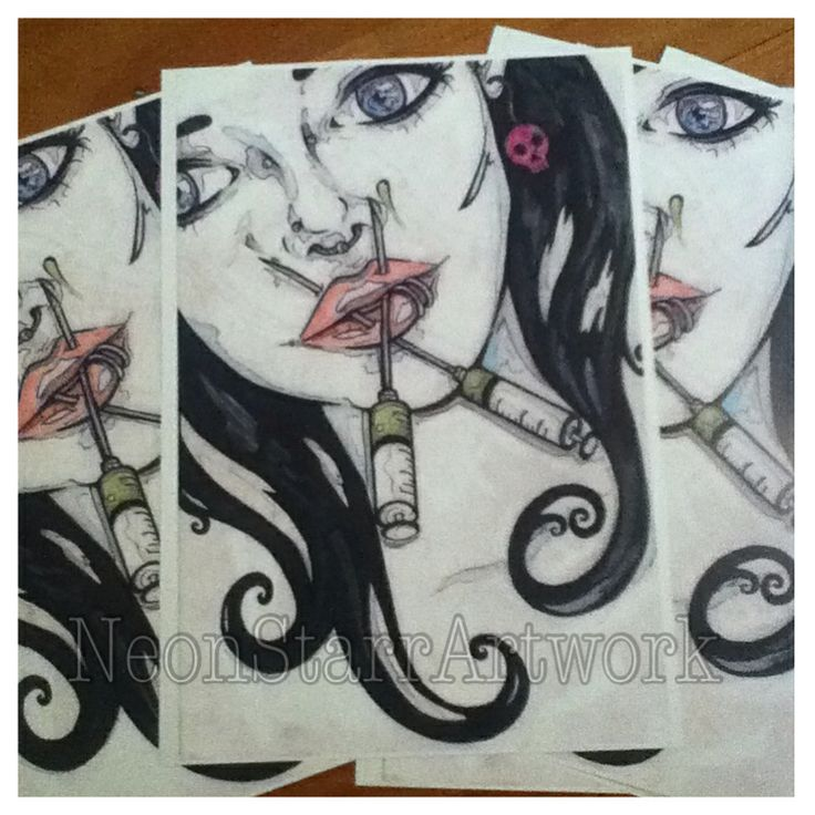 Needle face prints