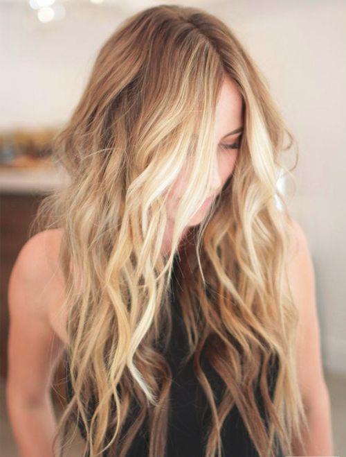 Neue stilvolle lange Omber-Frisuren für Frauen