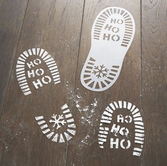 Have an extra special Christmas with your family this year with these Santa Foot Print Stencil! Perfect for making magical memories over on Chrismtas day.