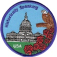 Historically Speaking  Learn about historical facts, wonders, and national treasures of the US in this patch program.