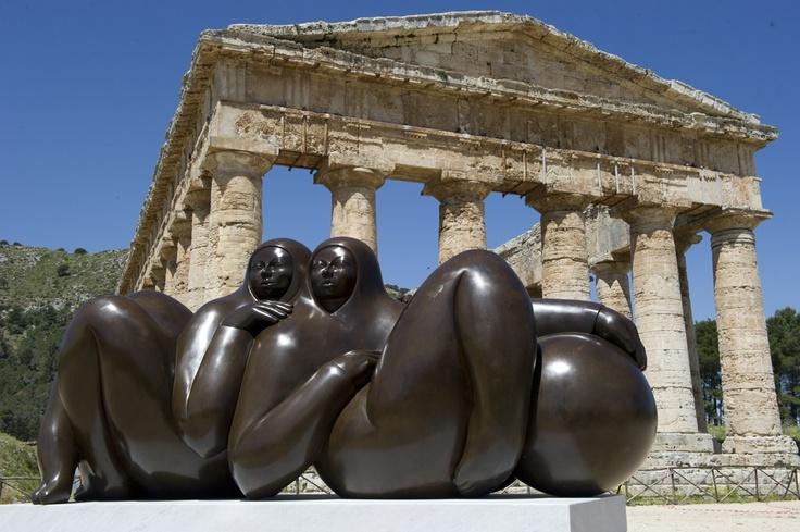 Jorge Jiménez Deredia expone en Sicilia. ¡Qué maravilla! Felicitaciones.