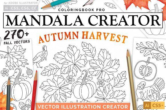 Autumn Harvest Mandala Creator by everdrifter on @creativemarket
