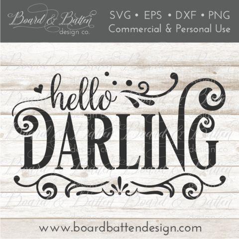Download Hello Darling SVG File | Silhouette school blog, Hello ...
