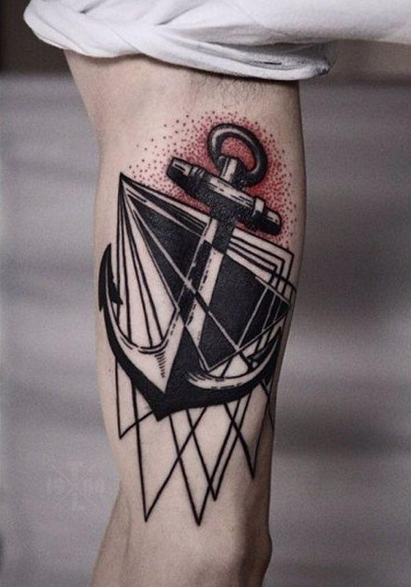 Anchor sleeve tattoo-11 - 45 Anchor Tattoo Design Ideas