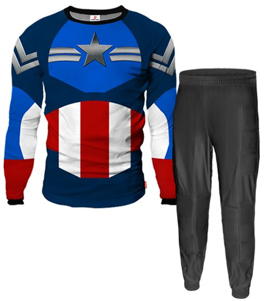 CAPTAIN AMERICA Goalkeeper Pants Kit With Custom Name and Number