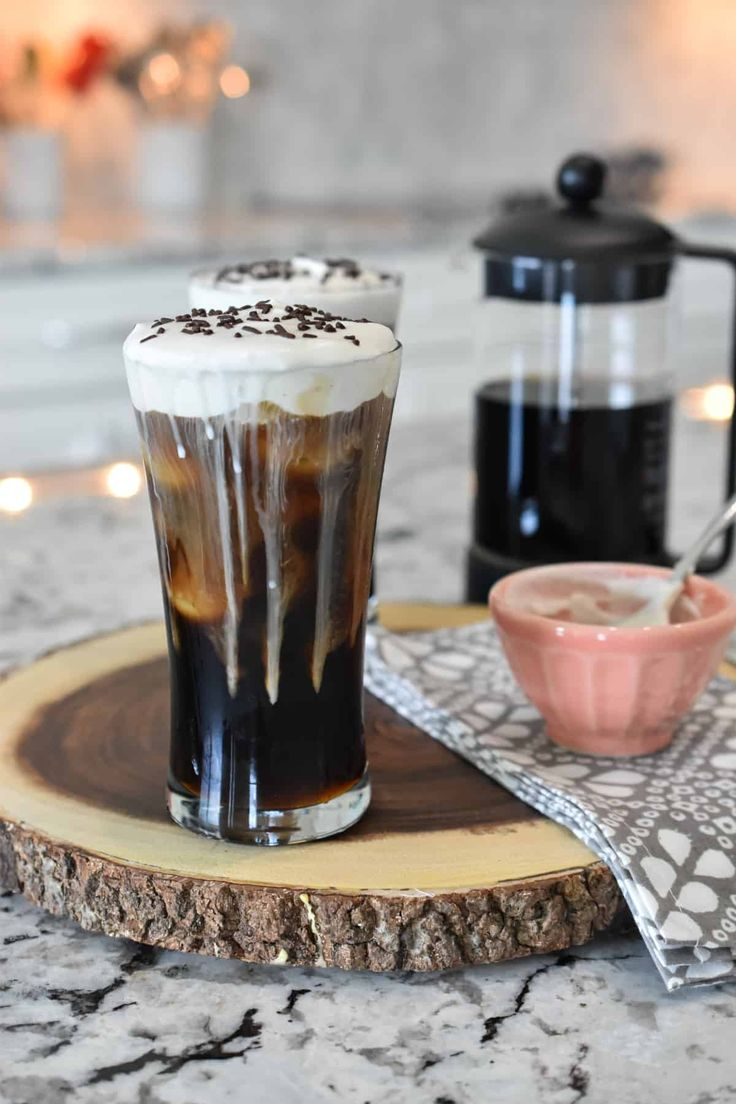 Delicious iced or hot! Black coffee is sweetened with dark brown sugar and topped with Irish cream flavored whipped crea…