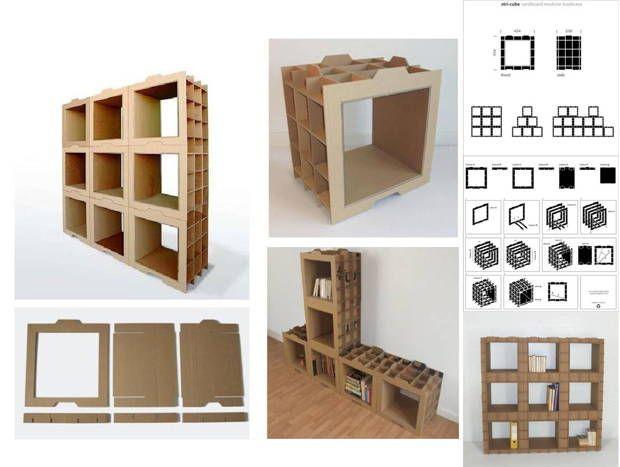 Muebles de cartón, hazlo tu mismo                                                                                                                                                                                 Más
