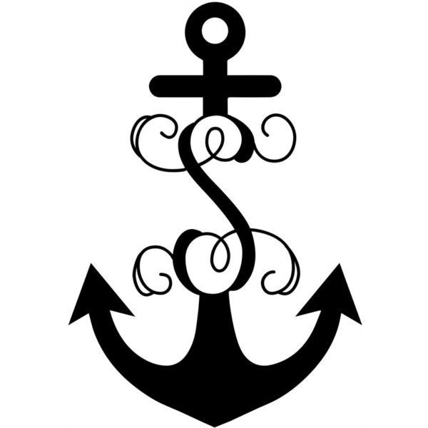 Anchor With Vine Initial Large Anchor Door Decor Childs Decor Anchor… ($49) …,  #Anchor #…