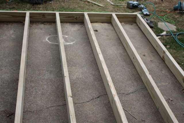 Building a deck over concrete diy