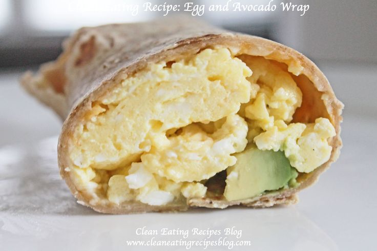 ** A Healthy Breakfast for Clean Eating: Egg Avocado Wrap ** | Weight Loss Meals and Recipes - Clean Eating Recipes