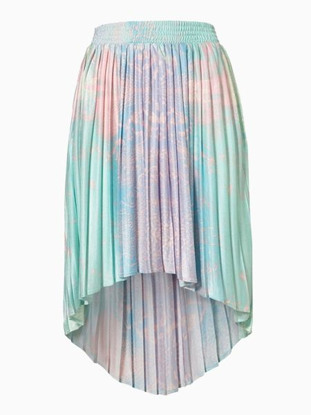 Dip Dye Skirt With Dipped Hem