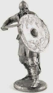 Воин «стены щитов», 9-10 вв   Оловянная история
