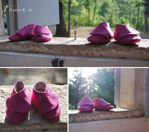 Petits pieds fuchsia Cute handmade baby shoes by Atelier Faggi Italy