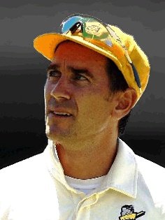Cricketer Justin Langer played his first international test match for Australia in 1993 against the West Indies. His opening test match partnership with Matthew Hayden was one of the most successful pairs of all-time. With over 23 centuries, 7696 runs and 105 test matches, Langer retired in 2007.
