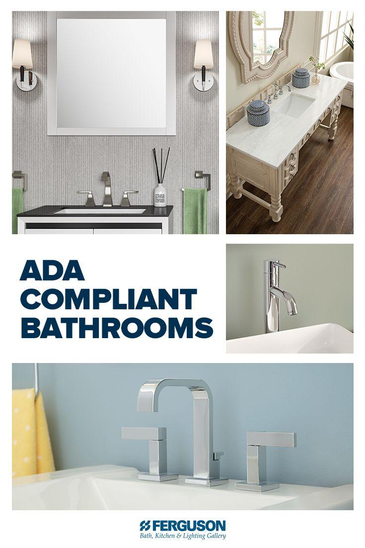 When Designing Ada Compliant Bathrooms Tailor Modern Bathrooms