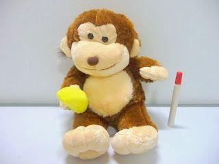 boneka binatang monyet lucu