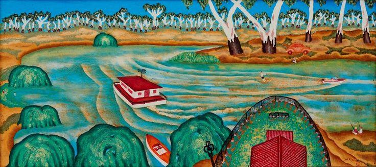 Yaxley, William E., House Boat, Murray River, Victoria, 1980