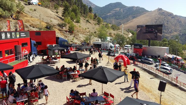 VIP view during the La Vuelta Spain Cycling