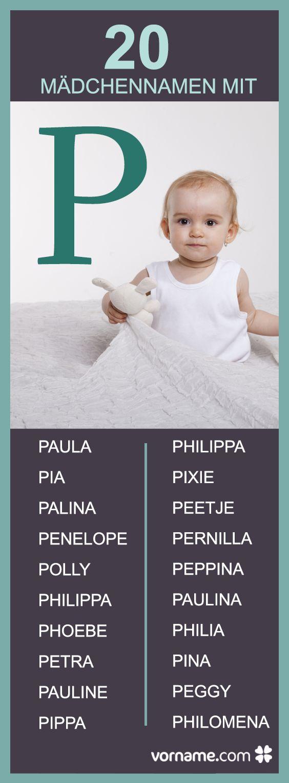 Bist Du auf der Suche nach einem hübschen Vornamen für Mädchen, der mit dem Buchstaben P beginnt? Hier findest Du jede Menge Namen, bestimmt ist auch einer für Deine Tochter dabei!