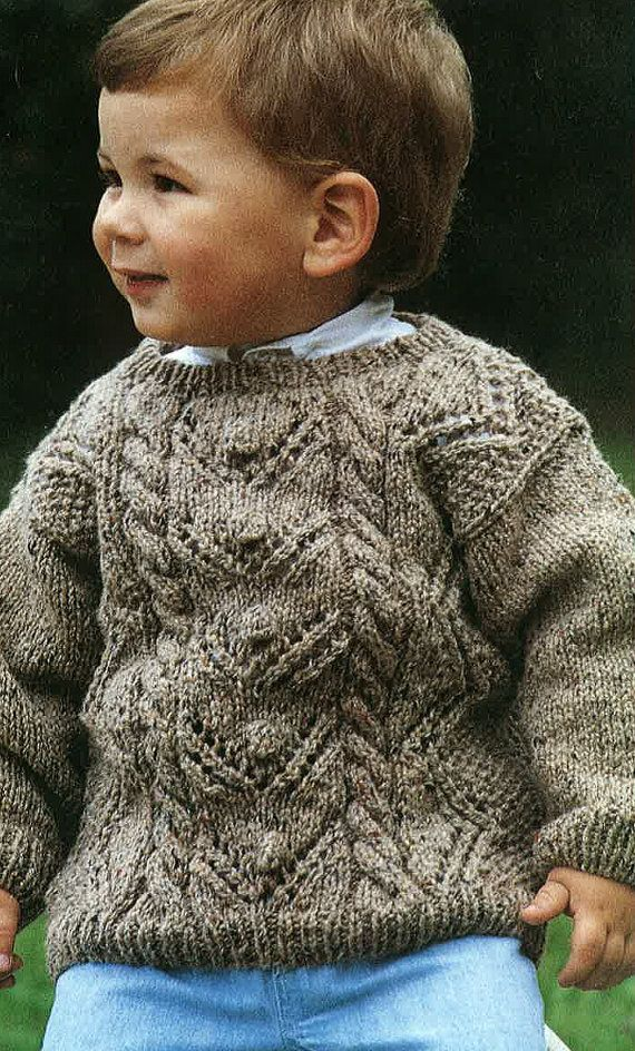 Babies Aran Jumper Pattern PDF No. 0315  From by TimelessOne, $2.99