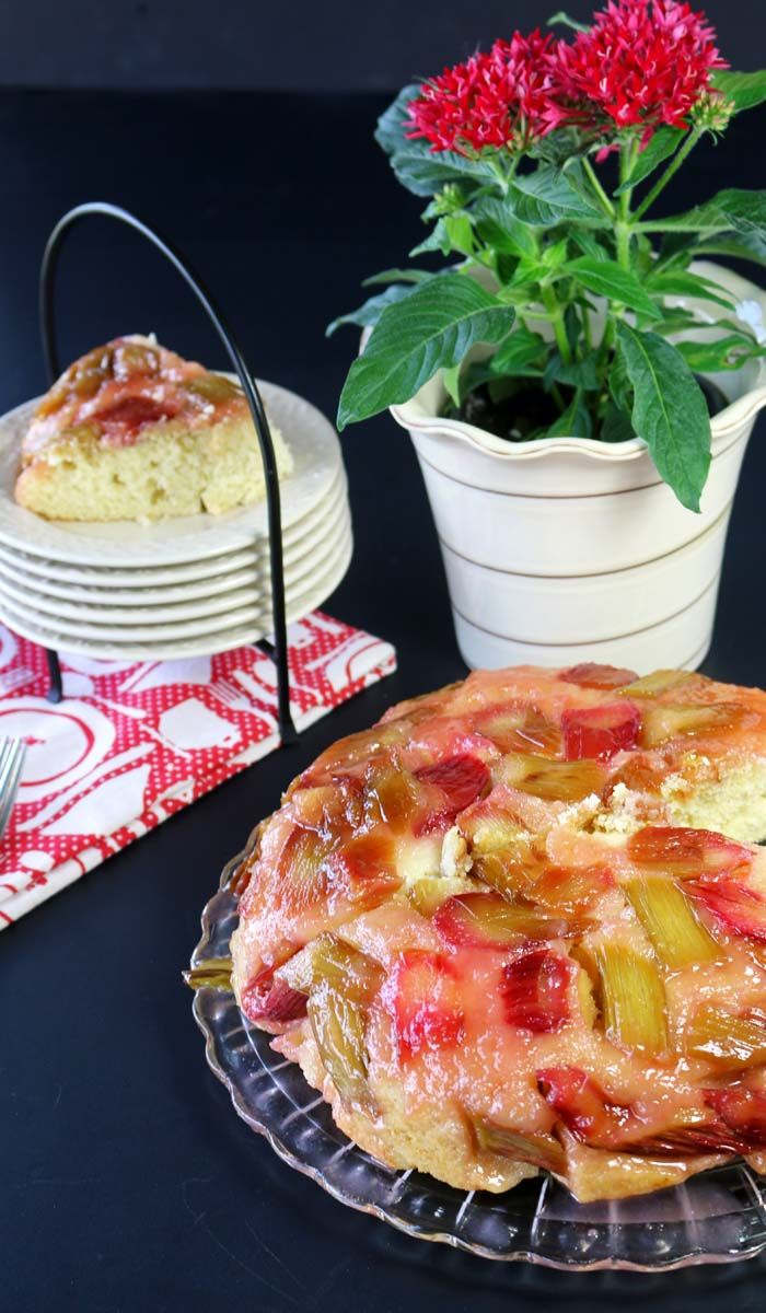 Rhubarb Upside Down Cake - Recipes Food and Cooking